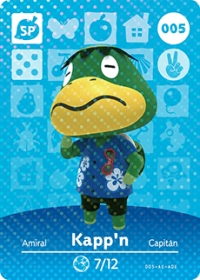 Animal Crossing - #005 Kapp'n  [NA] Box Art