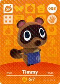 Animal Crossing - #008 Timmy  [NA] Box Art