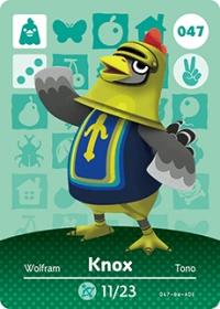 Animal Crossing - #047 Knox  [NA] Box Art