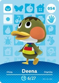 Animal Crossing - #054 Deena  [NA] Box Art
