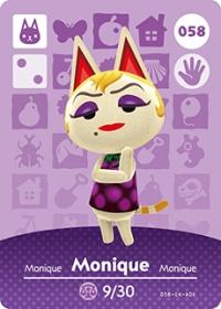 Animal Crossing - #058 Monique  [NA] Box Art