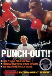 Mike Tyson's Punch-Out!! (3 screw cartridge, round seal) Box Art