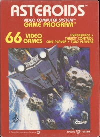 Asteroids (Black Picture Label) Box Art