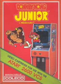 Donkey Kong Jr. (Coleco Cartridge) Box Art
