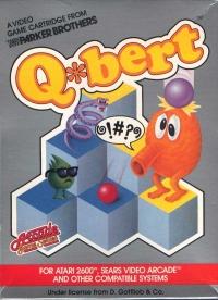 Q*Bert (Parker Bros. Cartridge) Box Art