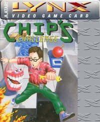Chip's Challenge (curved cartridge) Box Art