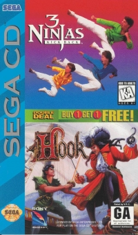 3 Ninjas Kick Back / Hook - Double Deal Box Art