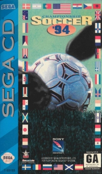 Championship Soccer '94 Box Art