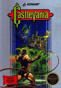Castlevania (3 screw cartridge, round seal) Box Art