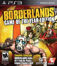 Borderlands - Game of the Year Edition (All 4 Add-On Packs) Box Art