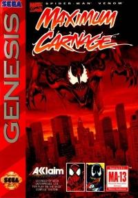 Spider-Man and Venom: Maximum Carnage Box Art