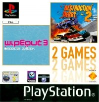 2 games in 1: Destruction Derby 2 & WipeOut 3 Special Edition Box Art
