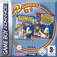2 Games in 1: Sonic Advance + Sonic Pinball Party [DE] Box Art