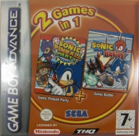 2 Games in 1: Sonic Pinball Party + Sonic Battle Box Art