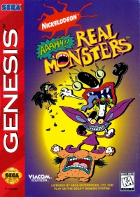 AAAHH!!! Real Monsters (cardboard, Mexico cart) Box Art